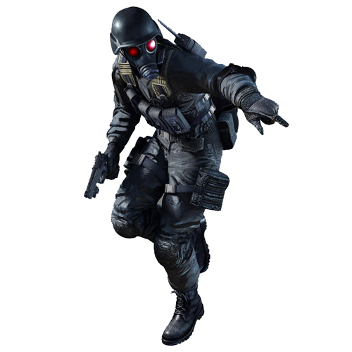 BIOHAZARD Umbrella パーカ/HUNKモデル<br>【バイオハザード】キャラクター/カプコンゲーム/メンズ/ミリタリー/フルジップスエットパーカー/ガスマスク/スウェット/CAPCOM