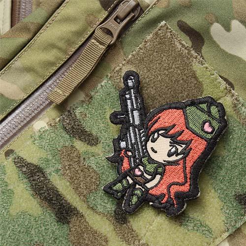MSM GUN GIRL 1 PATCH<br>【MIL-SPEC MONKEY ミルスペック・モンキー ガンガール パッチ】ミリタリー サバイバルゲーム ワッペン ベルクロ付き