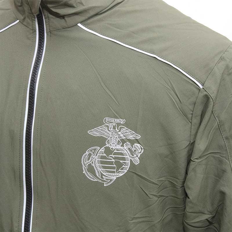 USMC RUNNING JACKET<br>【ユーエスエムシー ランニングジャケット】ミリタリー アウトドア スポーツ トレーニング 海兵隊 リフレクト