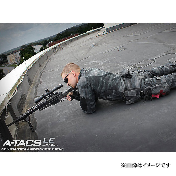 TP ユニバーサル レッグ ホルスター / A-TACS LE<br>【tactical performance タクティカル・パフォーマンス universal leg holster/エータックス エルイー】ミリタリー,サバゲー,コーデュラナイロン