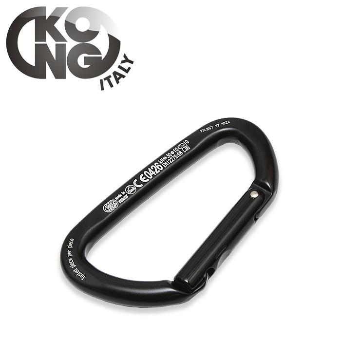 KONG ガイドブラック カラビナ<br>【コング Guide Black Carabiner】ミリタリー アウトドア クライミング レスキュー