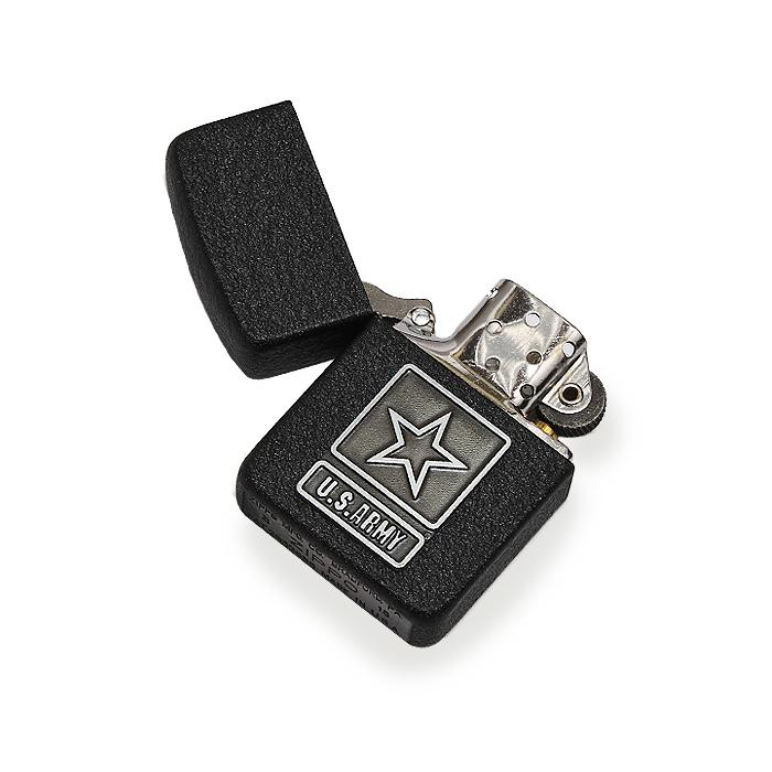 ZIPPO US ARMY スターエンブレム<br>【ジッポ アーミー Star Emblem】ミリタリー アメリカ陸軍 喫煙具 オイルライター Lighter