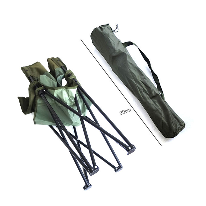 UK フォールディングチェアー OD/デッドストック<br>【イギリス軍 Folding Chair Deadstock】ミリタリー アウトドア 折り畳み椅子 ピクニック キャンプ 海水浴 レジャー アウトドアユース 学校行事 スポーツ観戦 日常使い