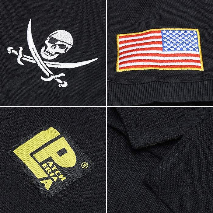 LA PATCHERIA ジョリーロジャーポロシャツ<br>【ラ・パッチェリア Jolly Roger Polo Shirts】メンズ ミリタリー カジュアル イタリア