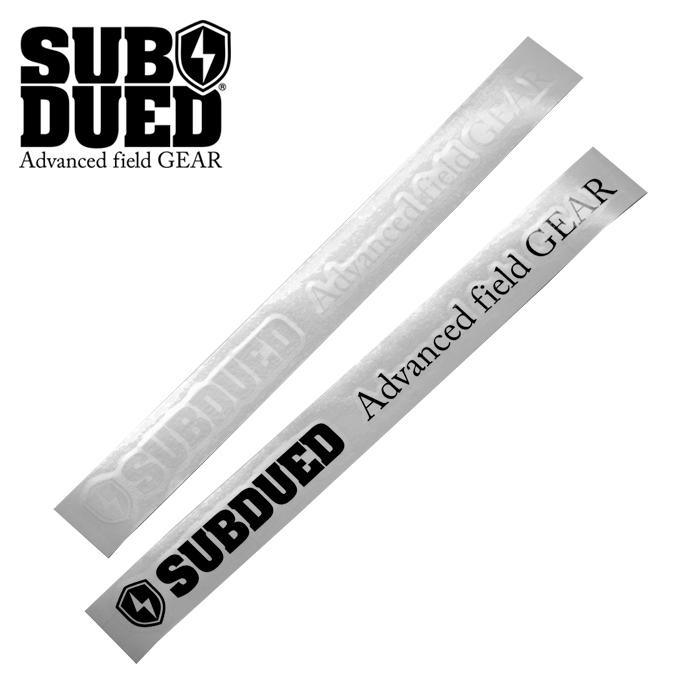 SUBDUED DECAL horizontal / LARGE 【サブデュード デカール ホリゾンタル ラージ】ミリタリー アウトドア マウンテンリーコン カッティングシート シール