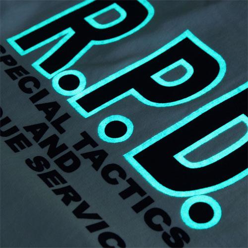 BIOHAZARD S.T.A.R.S.フロントロゴTシャツ<br>【バイオハザード スターズ】メンズ ミリタリー カジュアル アウトドア ゲーム 蓄光