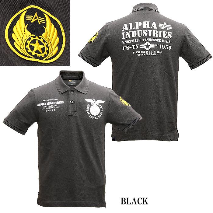 ALPHA TC1353 プリント ポロシャツ<br>【アルファ print polo shirts】メンズ ミリタリー カジュアル 半袖 鹿の子