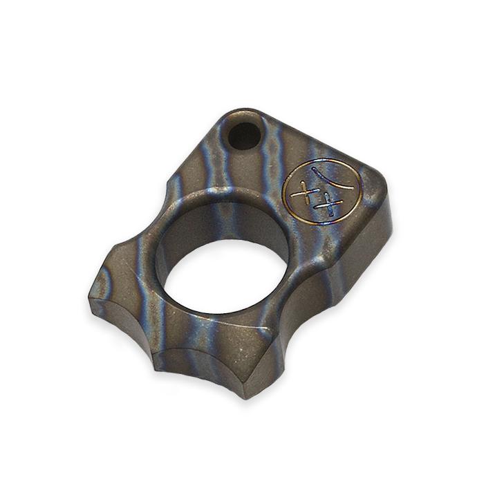 EDC シングルフィンガーリング・キーホルダー/ヒートグラデーション<br>【everyday carry single finger ring key holder heat gradation】エブリデイキャリー アウトドア