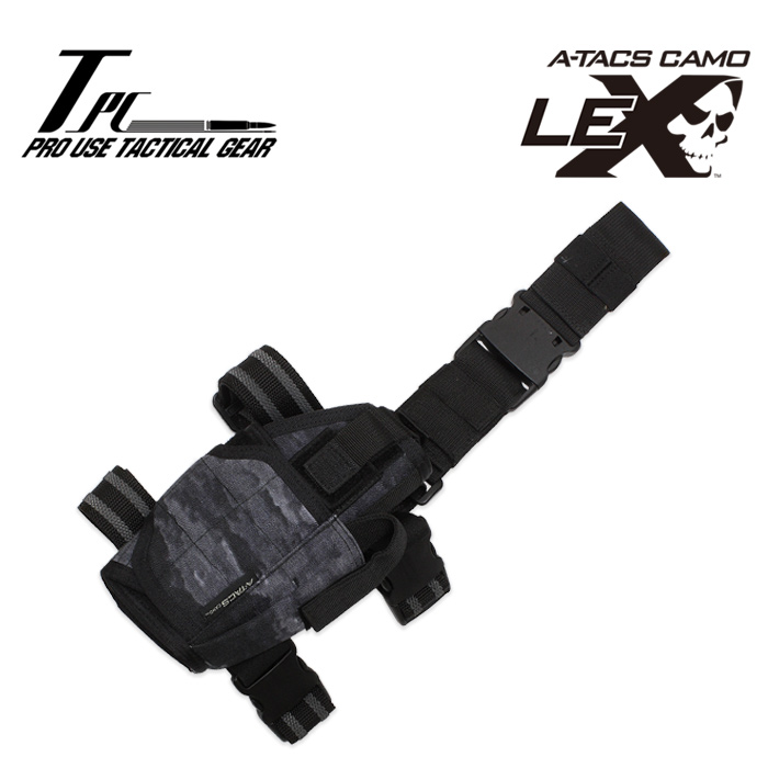 TP ユニバーサル レッグ ホルスター/A-TACS LE-X<br>【tactical performance universal leg holster/エータックス アイエックス】タクティカルパフォーマンス DCS A-TACS iX コーデュラナイロン