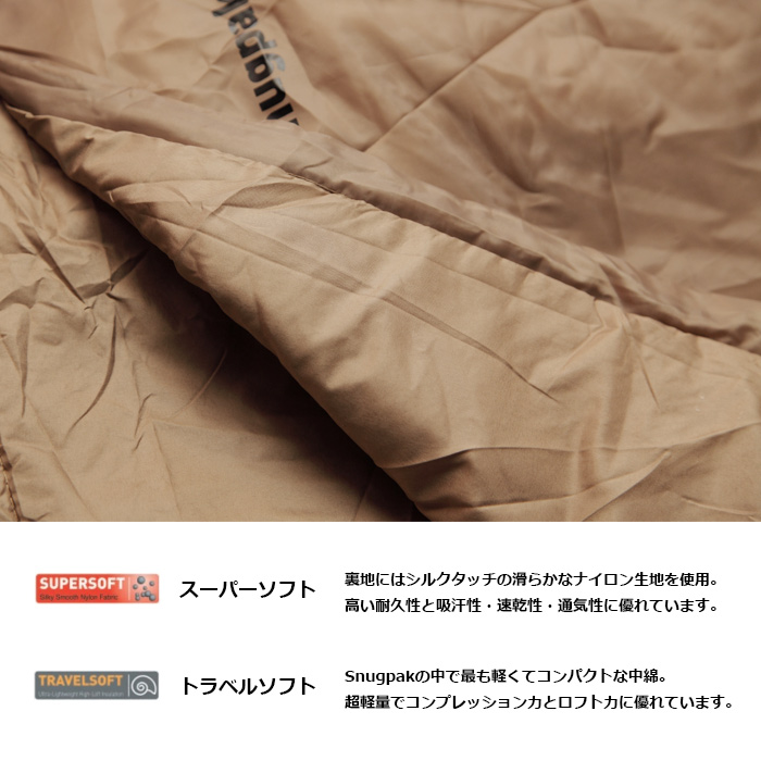 スナグパック トロピカル マミー ライトジップ<br>【Snugpak Tropical】ミリタリー アウトドア キャンプ シュラフ 寝袋 車中泊 マウンテンリーコン