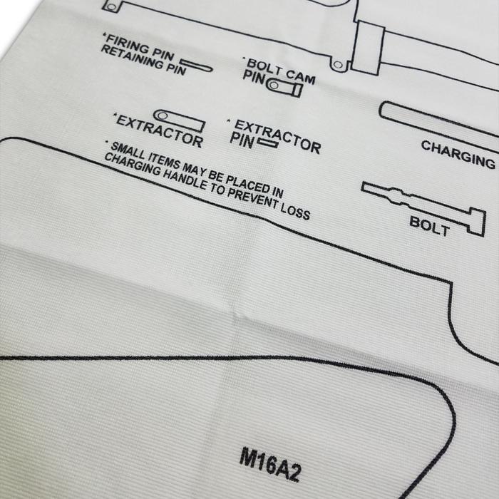 【実物放出品】USMC M16A2ライフル用野外分解シート/未使用品  メンズ ミリタリー アウトドア