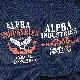 ALPHA TS1257 プリント ポロシャツ<br>【アルファ print polo shirt】メンズ ミリタリー カジュアル 半袖