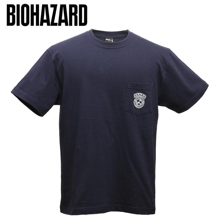 BIOHAZARD RE:3 S.T.A.R.S. ポケット Tシャツ 【バイオハザード S.T.A.R.S.】スターズ Resident Evil 生化危机 capcom カプコン