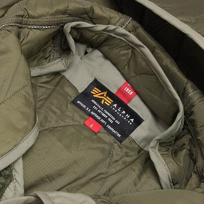 ALPHA TA1346 フーデッド ボアライナー<br>【アルファ hooded boa liner】メンズ ミリタリー カジュアル
