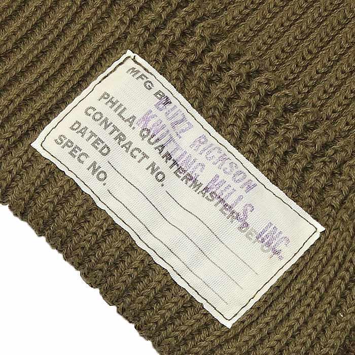 BUZZ BR02186 コットン ワッチキャップ<br>【バズリクソンズ rickson's cotton watch cap】メンズ ミリタリー ニットキャップ コットン 東洋エンタープライズ