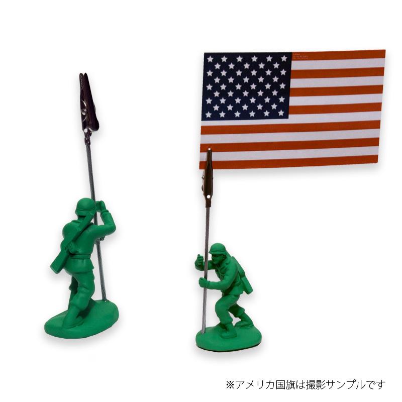 Motif グリーンアーミーメン メモホルダー クリップ<br>【モチーフ green armymen memo holder clip】ミリタリー インテリア メモスタンド クリップホルダー 名刺 写真 POP