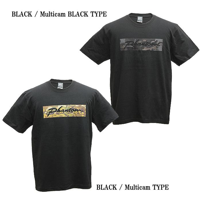 PHANTOM カーシブ ロゴ Tシャツ<br>【ファントム オリジナル Cursive Logo T-shirt】メンズ ミリタリー カジュアル アウトドア