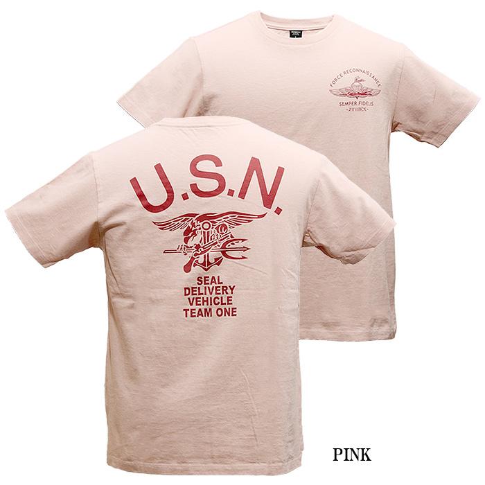 AVIREX 6193328 SEALsバックプリントTシャツ<br>【アヴィレックス シールズ Back Print T-Shirt】メンズ ミリタリー カジュアル
