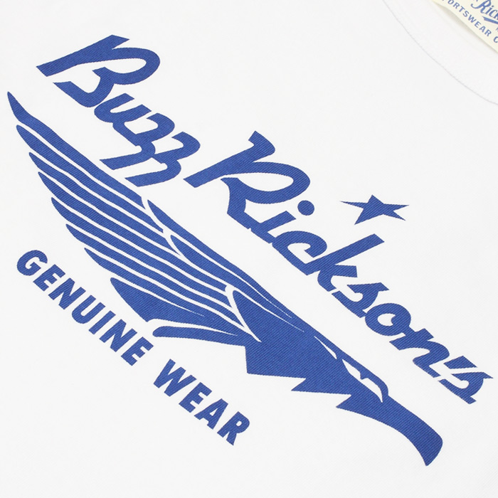 BUZZ BR78304 トレード マークTシャツ<br>【バズ リクソンズ Trade Mark T-Shirt】メンズ ミリタリー カジュアル ブランドロゴ