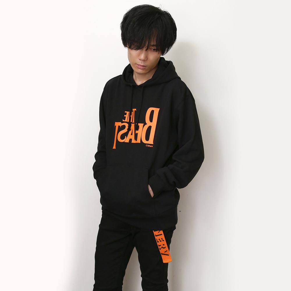 THE BEAST Parka β (ブラック×オレンジ)