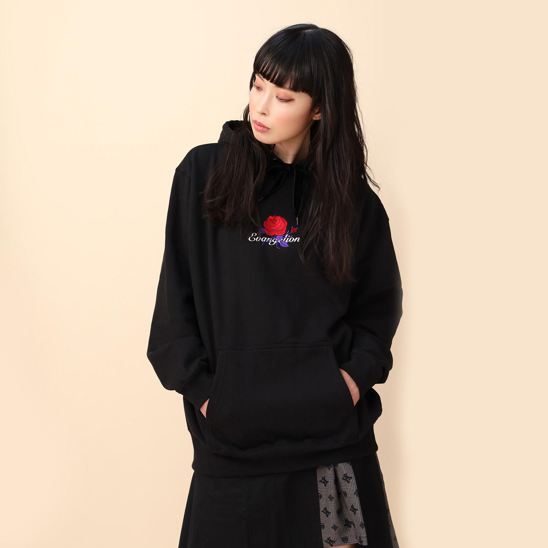 EVA-01 Flower Embroidery Parka (BLACK(初号機覚醒ローズ))