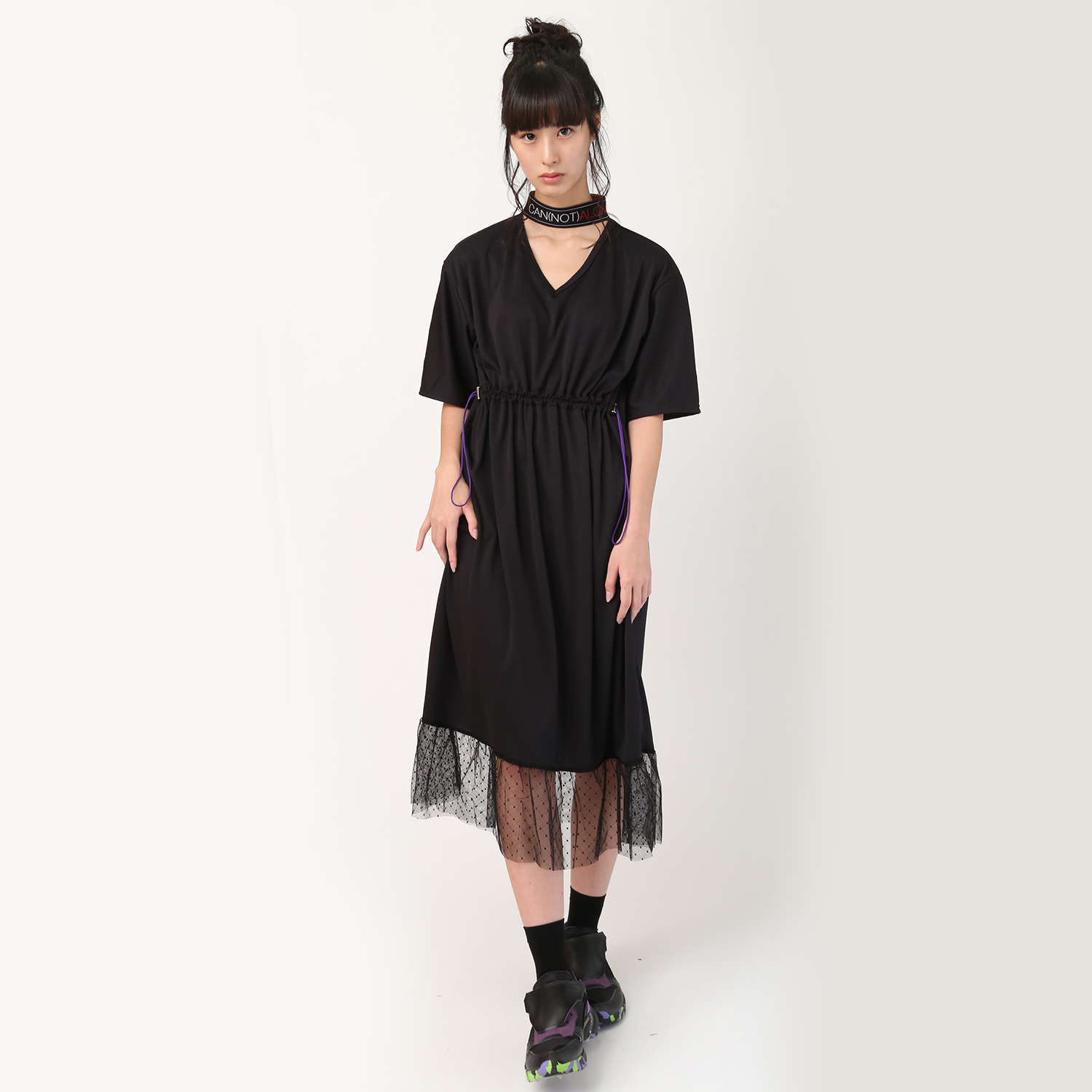 CAN(NOT) Choker Dress (ブラック)