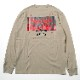 3rd Impact Pt. L/S TEE by MARK GONZALES (BEIGE)