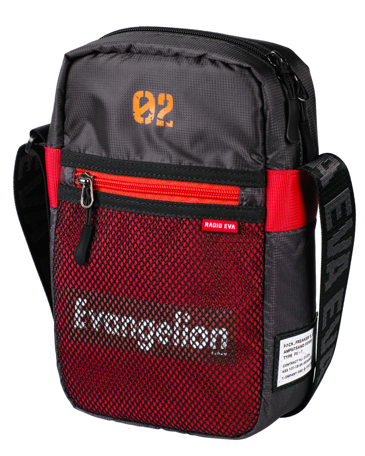 EVANGELION CORE SHOULDER BAG by FIRE FIRST (EVA-02 MODEL)