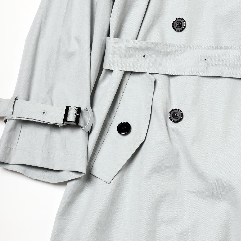 Check on EVA Trench Coat (LIGHT BLUE)