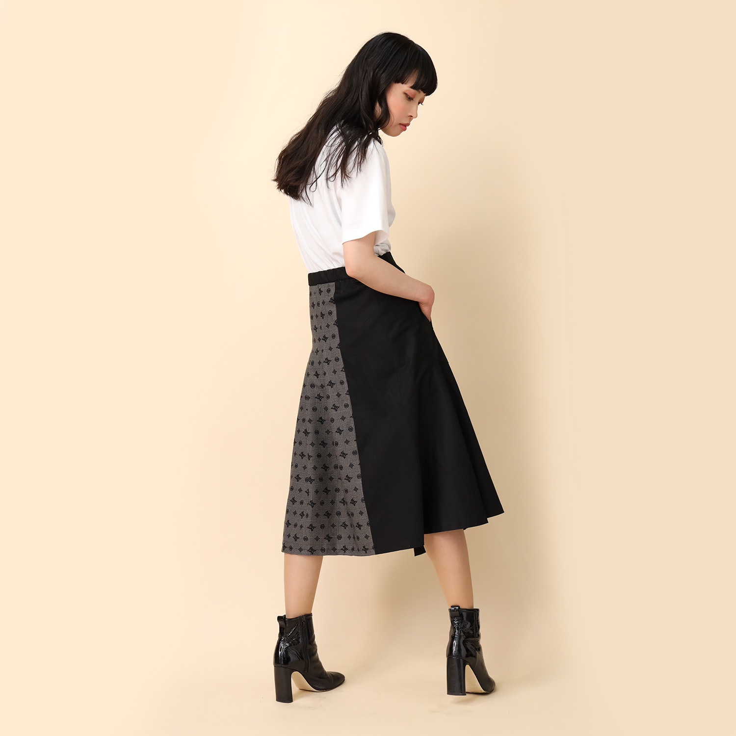 Check on EVA Trench Skirt (BLACK)