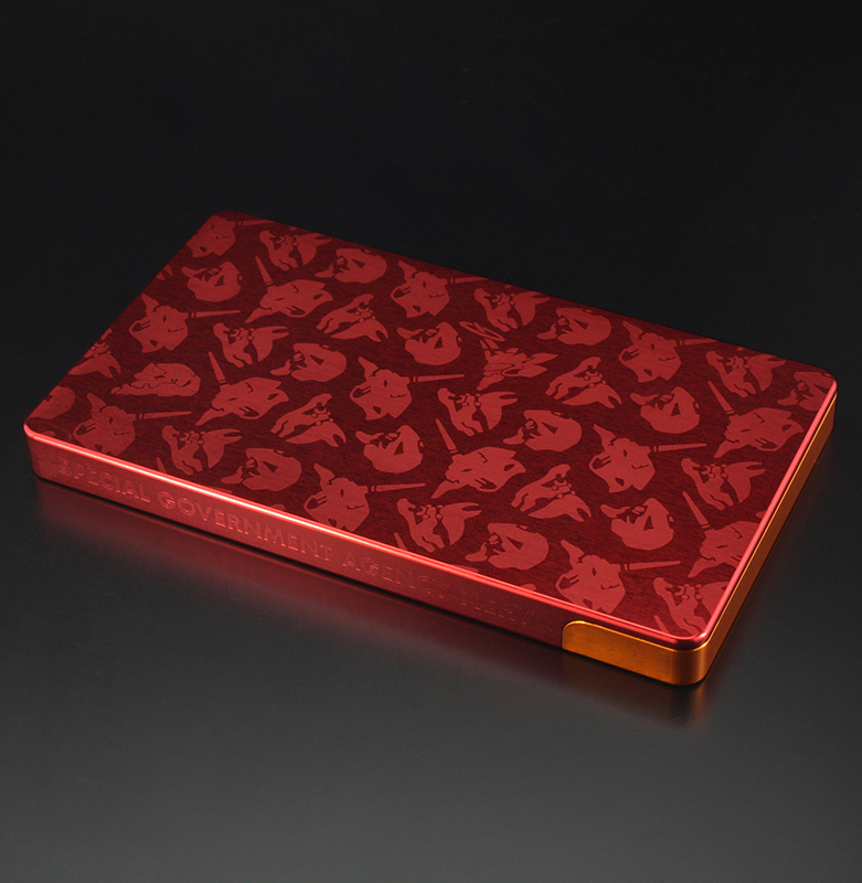 EVA DURALUMIN CARD CASE (Yellow×Red(2号機))