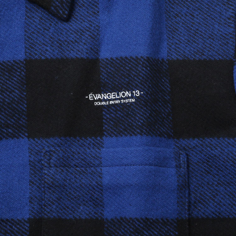 EVANGELION XIII FLANNEL CHECK SHIRTS JKT (ブルー)