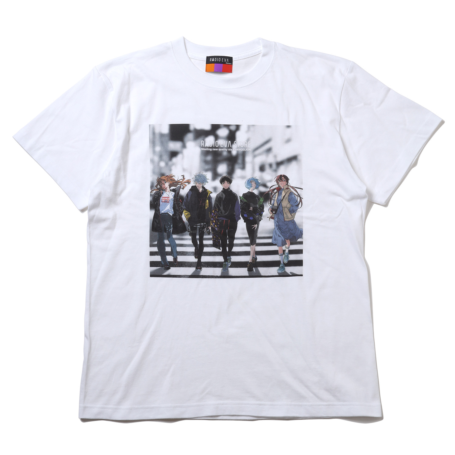 RADIO EVA Illustration T-Shirt β(Mai Yoneyama)(WHITE)