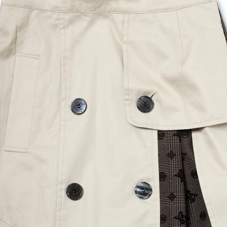 Check on EVA Trench Skirt (BEIGE)