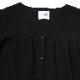 Flower Tiered Tunic Shirt (BLACK)
