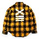 EVANGELION XIII FLANNEL CHECK SHIRTS JKT (イエロー)