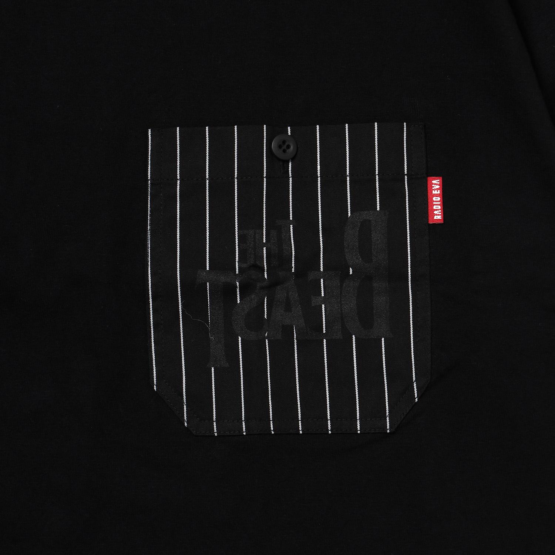 THE BEAST STRIPE POCKET T-Shirt (BLACK)