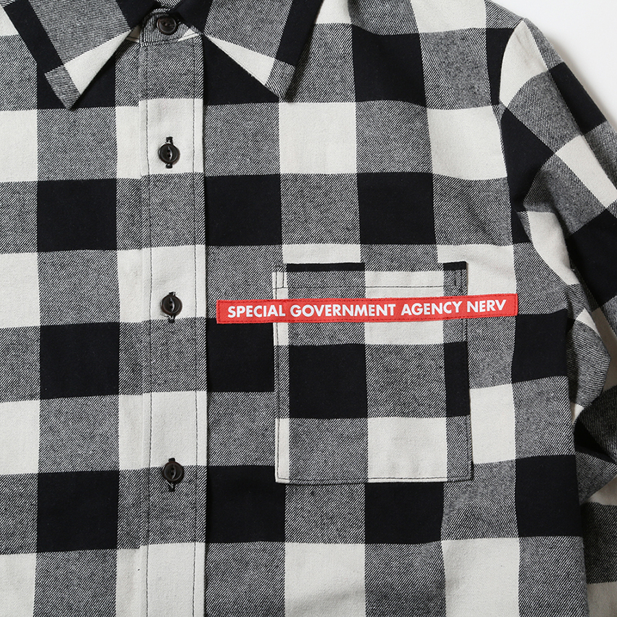 NEW ONLY SUMMER FLANNEL CHECK SHIRTS (ホワイト)