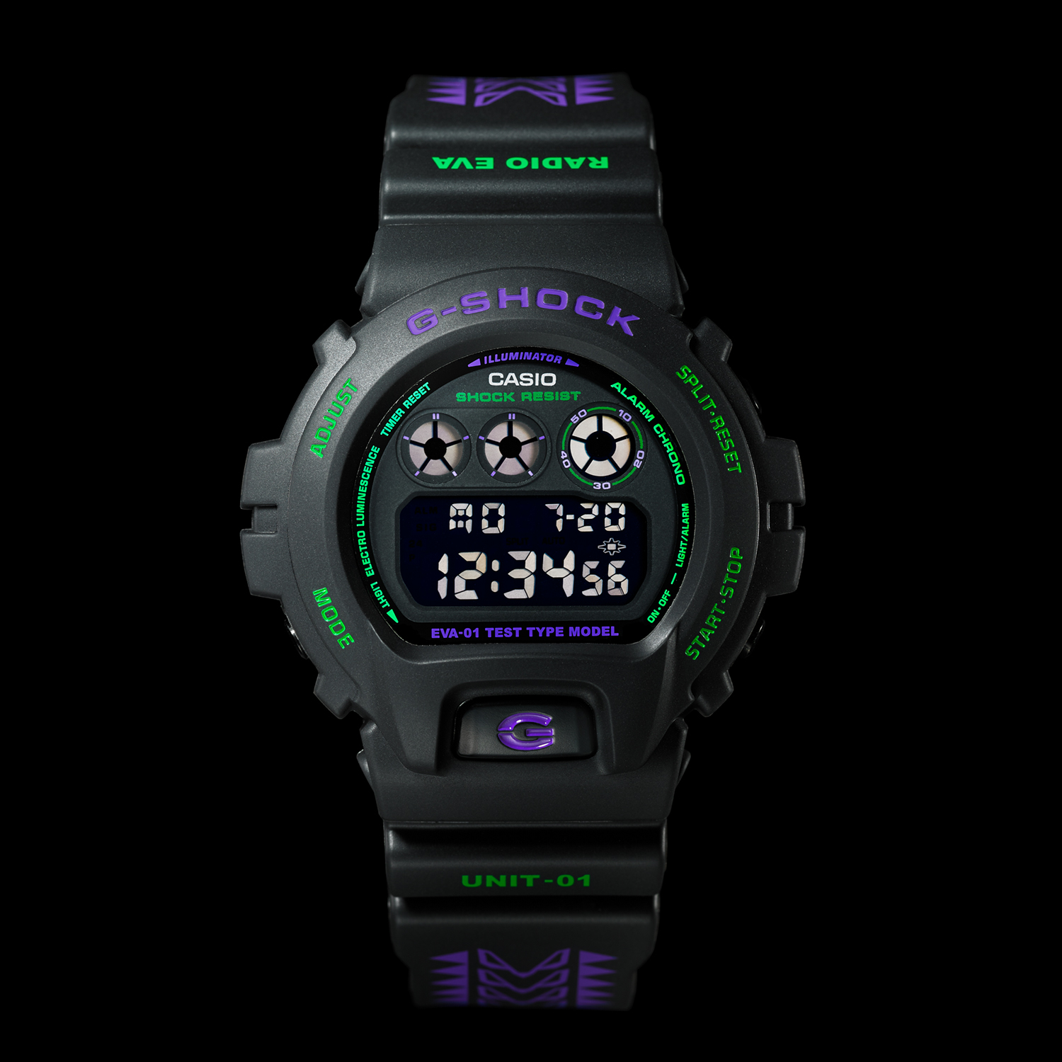 EVANGELION STORE オリジナル腕時計 G-SHOCK DW-6900 feat.RADIO EVA