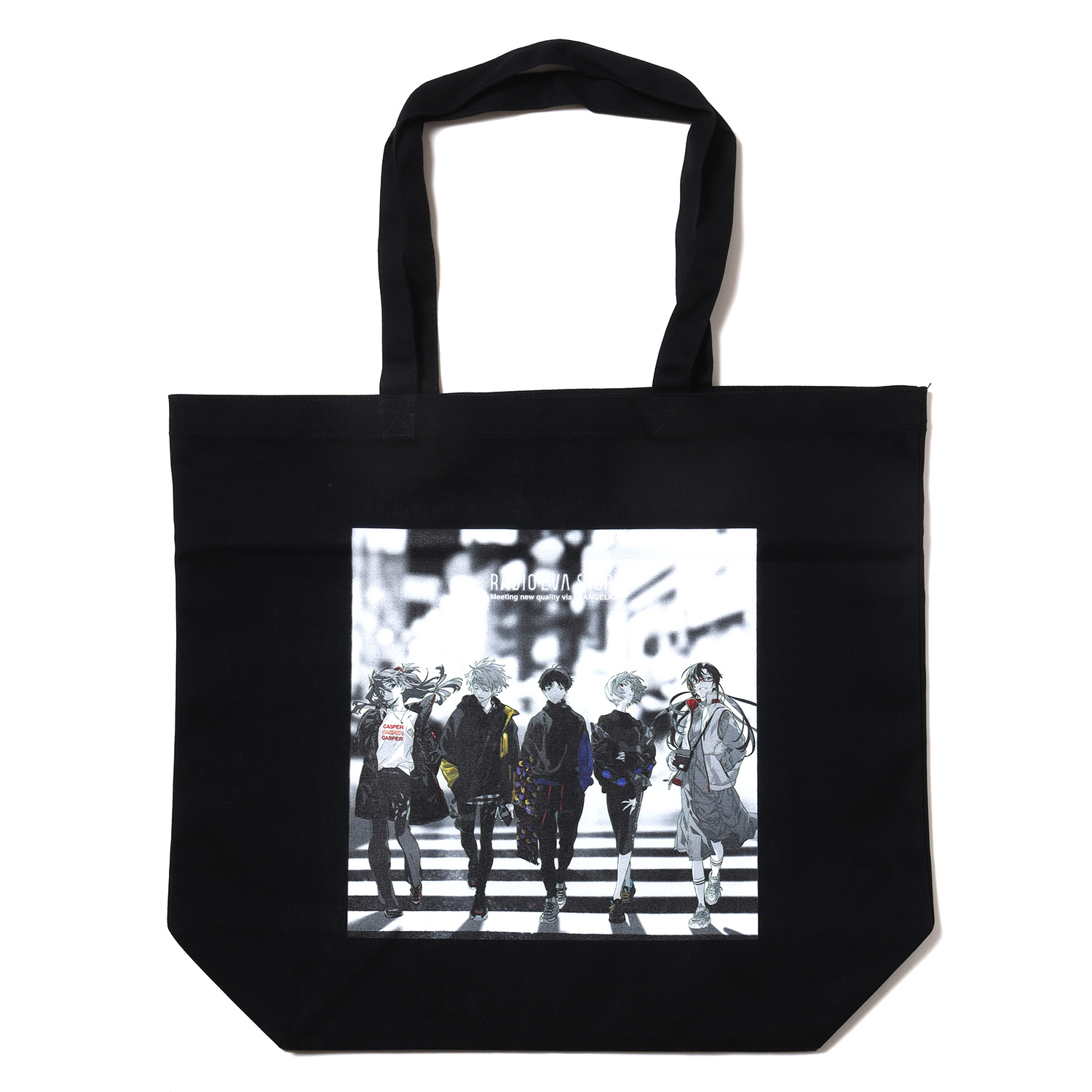 RADIO EVA Illustration Tote Bag β(Mai Yoneyama)(BLACK)