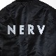 NERV PATTERNED ALL OVER REVERSIBLE MA-1 JACKET (ブラック)