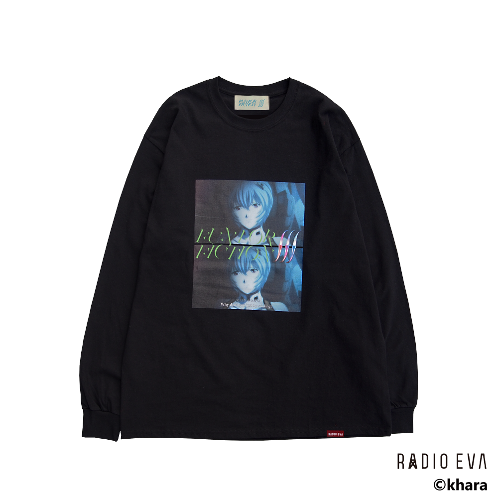 Ayanami (Why don't you just try smiling?) L/S Tee (BLACK)