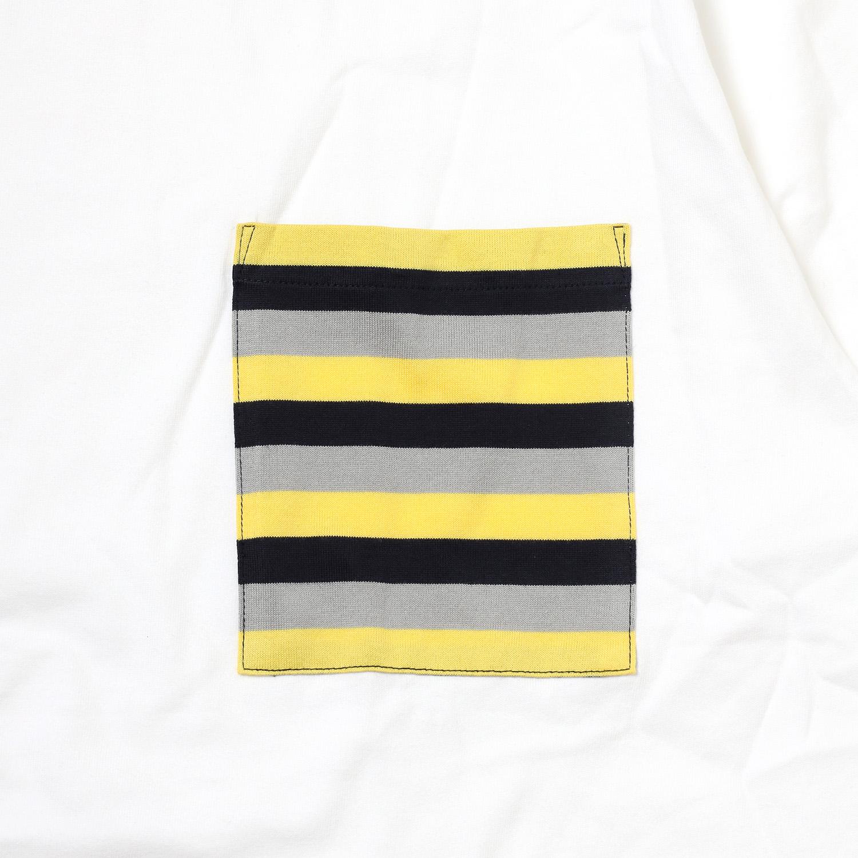 EVANGELION BORDER POCKET T-Shirt (WHITE(Mark.06))