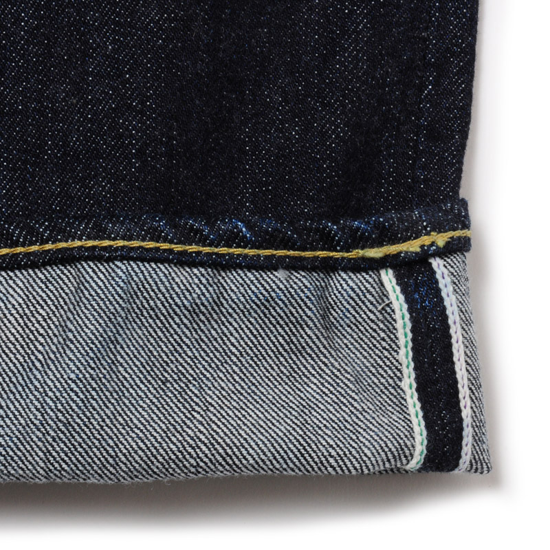 TEST TYPE 01 REGULAR STRAIGHT ONCE-WASHED DENIM  (INDIGO BLUE)