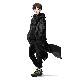 EVANGELION XIII Nylon Saruel Pants (ブラック)