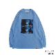 Ayanami (Why don't you just try smiling?) L/S Tee (LIGHT BLUE)