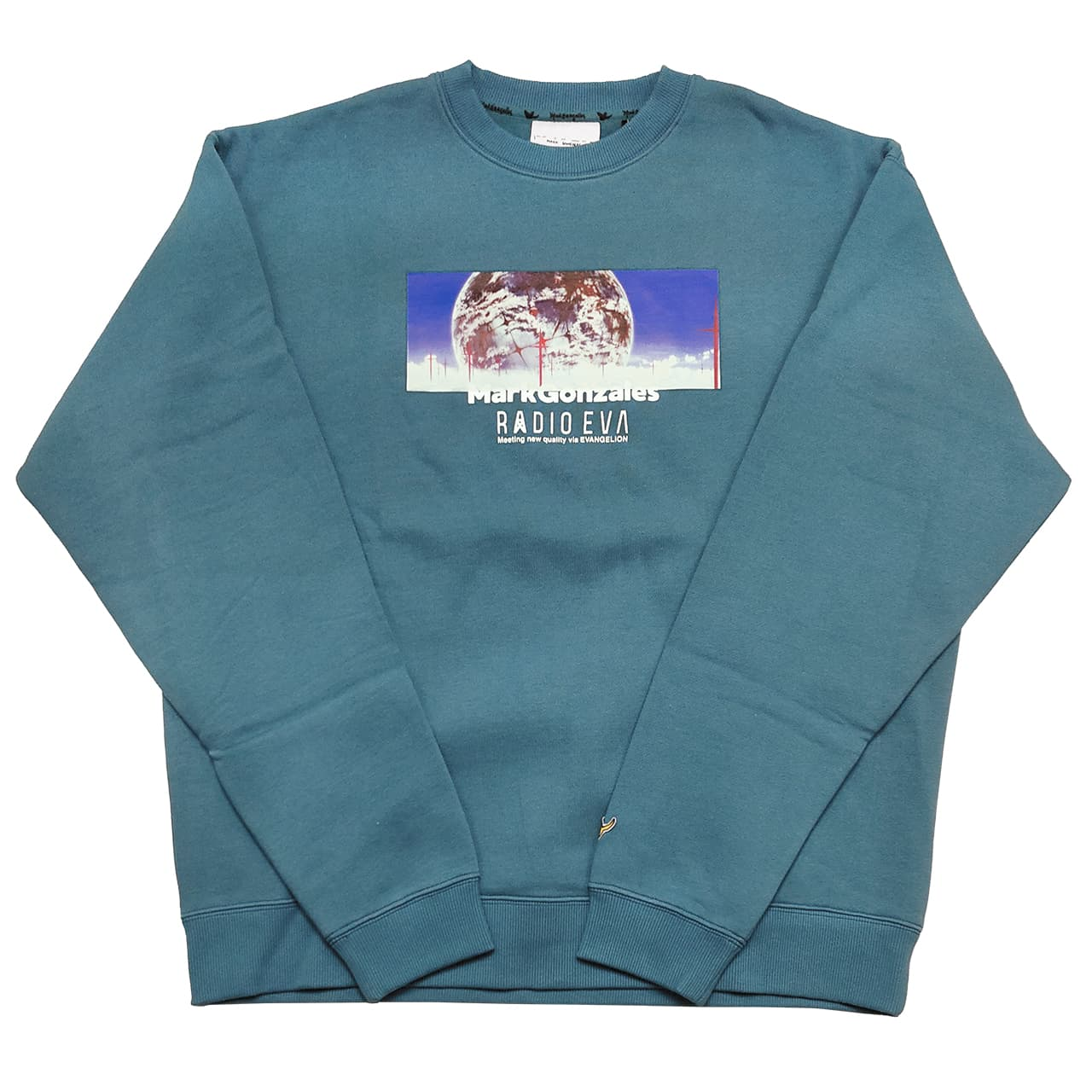 Human Mind Print Sweatshirt by MARK GONZALES (EMERALD)