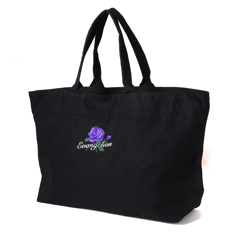 EVA-01 Flower Embroidery EVERYDAY BAG (BLACK(初号機ローズ))
