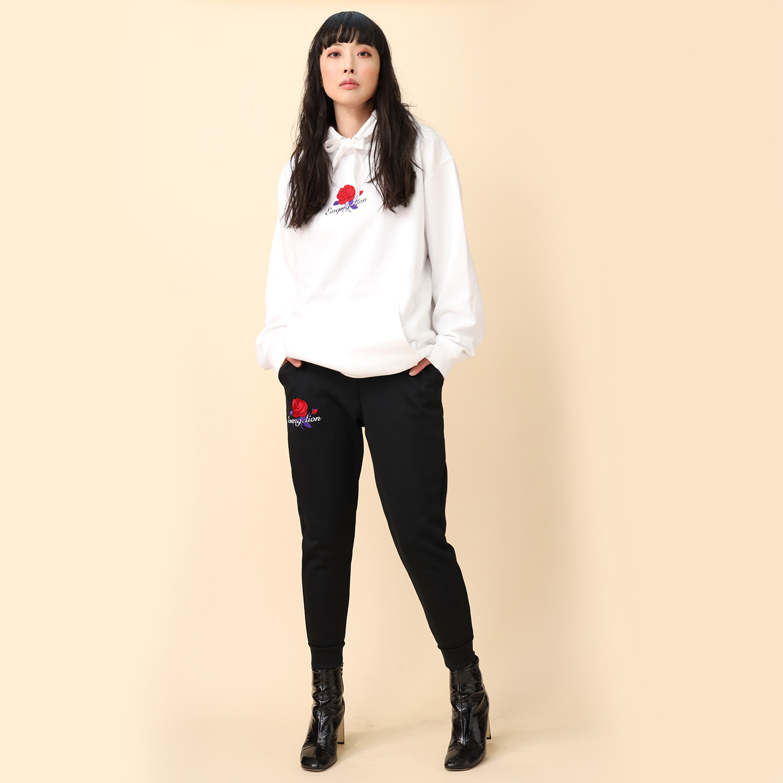 EVA-01 Flower Embroidery Pants (BLACK(初号機覚醒ローズ))