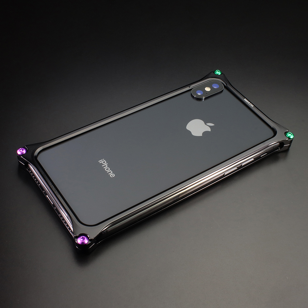 Solid Bumper for iPhoneX (RADIO EVA Limited) (Polished Black(初号機))